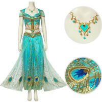 2019 Movie Aladdin Costume Princess Jasmine Cosplay Fancy Dress Halloween Outfit