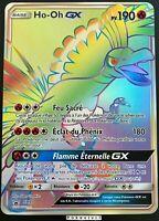 Carte Pokemon HO-OH SM80 GX Full Art FA SECRETE Soleil et Lune FR NEUF JUMBO