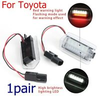 White+Red Error Free Emergency Side Door Warning Welcome Led Lights for Toyota