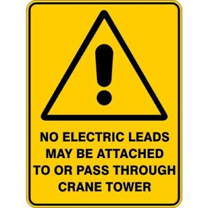 NO ELECTRICAL LEADS - SELF ADHESIVE STICKER / DECAL / SIGN | HEALTH & SAFETY
