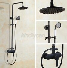"Black Oil Rubbed Brass 8"" Rain Exposed Shower Faucet Set Mixer Tap Khg158"
