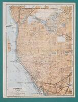 """BUFFALO Town Plan New York State - 1909 MAP Baedeker 6 x 8"""" (15 x 20 cm)"""