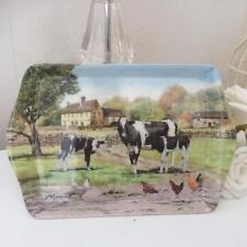 Country Scene Farmyard Cow Small Melamine Tray