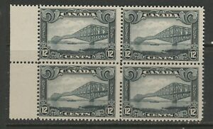 CANADA #156  12 CENT SCROLL  BLOCK OF 4   MINT NH