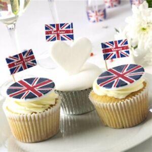 20 x Union Jack Sticks British Flag Party Sandwich Food CupCake Cocktail Picks