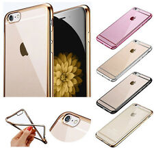 Ultra Slim Chrome TPU Gel Case for Apple iPhone 8 7 6S Plus 5S,Skin Cover Pouch