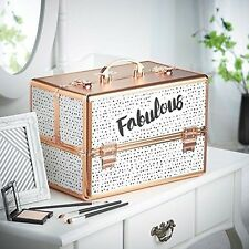 Fabulous Cosmetic Organizer Case Professional Makeup Storage Durable Aluminum