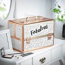 Fabulous Cosmetic Organizer Case Professional Makeup Storage Durable Aluminum