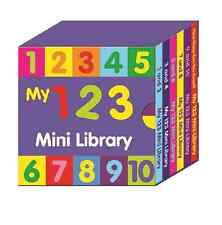 PRE-SCHOOL MY 123 MINI LIBRARY SET 6 BOOKS LEARN NUMBERS & COUNTING 2640/123M