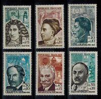 timbres de France n° 1345/1350 neufs** année 1962