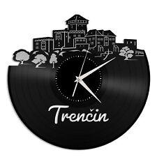 Trencin Slovakia Vinyl Wall Clock Vintage Office Home Bedroom Decoration Gift
