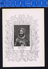 1898 Antique Portrait Print Luis de Camoens