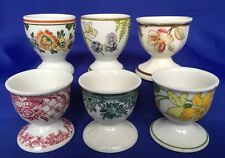 Villeroy & Boch Single Footed Egg Cups 6 Different Patterns Forsa Portabello VTG