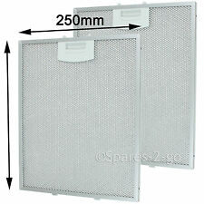 2 x NEFF D6 D7 D8 D9 Cooker Hood Vent Extractor Metal Mesh Filters 310 x 250mm