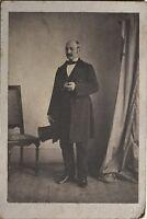 Uomo A Cappello Fotografia CDV c1860 Vintage Albumina PL34L3P48