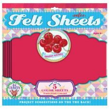 Cherry Colors Red Felt Sheets by eeBoo, 5 sheets