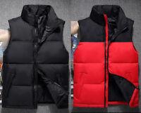 Winter Men short down vest thick jacket Sleeveless casual Waistcoat coat outwear