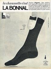 PUBLICITE ADVERTISING 035  1964  LA BONNAL   chaussettes homme
