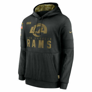 Nike LA Los Angeles Rams Salute to Service STS Hoodie Pullover Sweater   Men's L