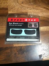 SportStar Pro Style Custom Eye Black Out Stick Ons! Football Baseball Write On