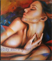 LMOP592 100% hand painted portrait sexy naked girl art oil painting on canvas
