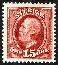 SWEDEN.1896.15 ORE.MOUNTED MINT.SG.# 59.