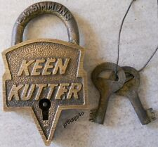 Keen Kutter St. Louis lock solid brass old west padlock