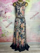 MONSOON STUNNING FULL LENGTH MULTICOLOUR MAXI FLORAL DRESS SIZE 14 SO PRETTY