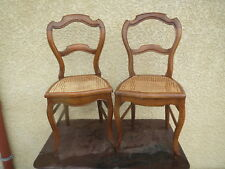 2 Old Beautiful Chairs Louis Philippe Period Caning Seat Antique