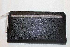 COACH F59120 NWT Accordion Travel Walllet - Crossgrain Leather Black