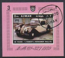Ajman - 1970, voitures vintage (BMW 327 1939) feuille - CTO