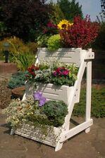 scala Fiori,testa di fiore,pflanzleiter,Legno,completamente Trattata In Bianco