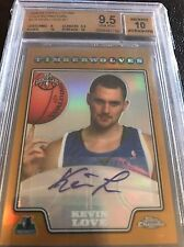 2008-09 Topps Chrome Gold Auto Rc  Kevin Love Numbered 2/5