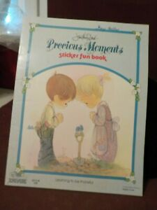 VINTAGE 1980 JONATHAN & DAVID PRECIOUS MOMENTS STICKER BOOK LEARNING TO THANKFUL