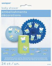 Baby Shower Party Embellishments Decorations Baby Boy Blue Pack of 24
