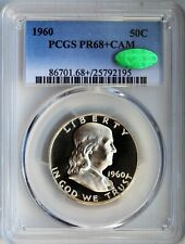 1960 Franklin Half Dollar Proof PR68+ CAM CAC