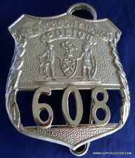 OBSOLETE, VINTAGE NEW YORK CITY TRANSIT AUTHORITY POLICE BADGE (REPRODUCTION)