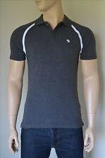 Nueva Abercrombie & Fitch Camisa Polo Sport Vintage Gris carbón Moose L