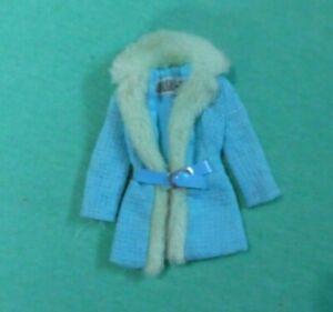 Vintage Barbie Clothes - MOD Era Julia 1752 Brrr-Furrr Blue Coat