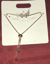 Disney Parks Minnie Mouse Bow Bracelet Rose Gold With Crystals From Swarovski