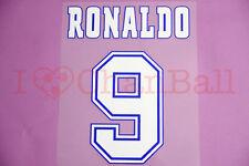 Ronaldo #9 1996-1997 Barcelona UEFA Homkit Nameset Printing