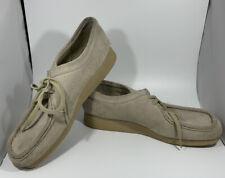 Womens 9.5M Shoe CLARKS WALLABEE  Crepe Sole Sand Beige Low Suede