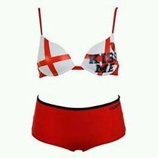 NWT GOLDDIGGA UK FLAG BIKINI SIZE UK 12. PADDED BIKINI TOP W/ BOYSHORTS BOTTOM.