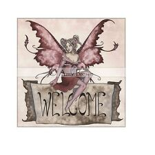 Ceramic Sensations 6x6 Tabletop Tile Welcome Fairy Fantasy Art Decor Amy Brown