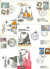 """BELGIUM 1960's """"SABENA"""" 9 FIRST FLIGHTS THAILAND,TUNIS,"""