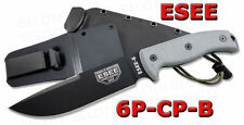 ESEE Model 6 Clip Point Plain With Molded Sheath 6P-CP-B