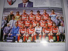 FOOTBALL COUPURE LIVRE PHOTO COULEUR 20x10 D2 GrB STADE RENNAIS RENNES 1989/1990