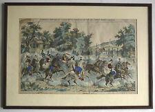 Empereur Napoléon III & les SPAHIS à Bagatelle. Lithographie Pont à Mousson.