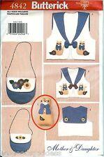 Butterick 4842 Misses Girls CAT VESTS Purses Toy Sewing Pattern UNCUT