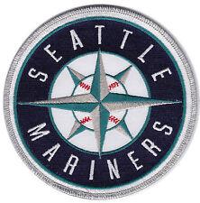 "SEATTLE MARINERS MLB BASEBALL 5"" ROUND TEAM LOGO PATCH"